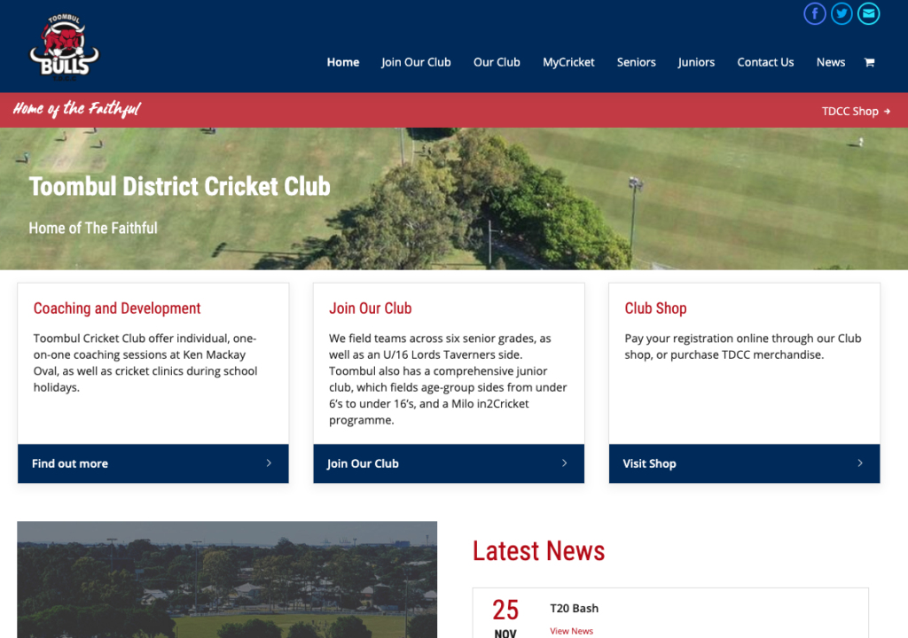 Toombul District Cricket Club Website