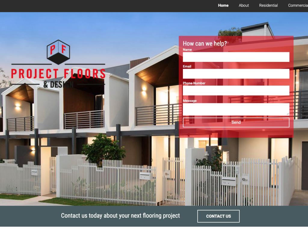 Project Floors Website Homepage